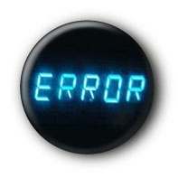 Error Button Ansteckbutton