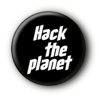 Hack the Planet Button Ansteckbutton
