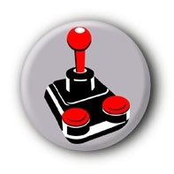 Joystick Button Ansteckbutton