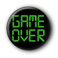 Game over Button Ansteckbutton