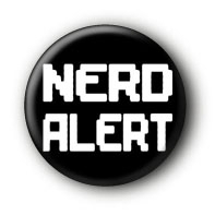 Nerd Alert Button Ansteckbutton