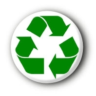 Recycling Button Badge Pin