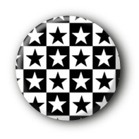 Sterne Karomuster Button Pin