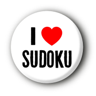 I love Sudoku Button Ansteckbutton
