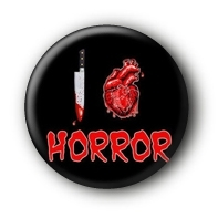 I love Horror Button Ansteckbutton