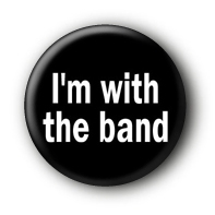 I'm with the band Button Pin