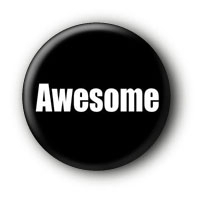Awesome Button Ansteckbutton