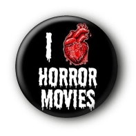 I love Horror Movies Button