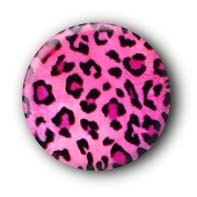 Leopard pink Button Ansteckbutton
