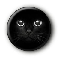 Black Cat Button Ansteckbutton