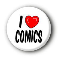 I love Comics Button Badge