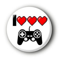 I love Gaming Button Ansteckbutton