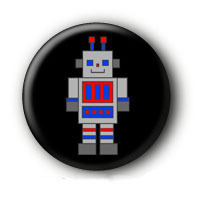 Roboter Robot Button Badge