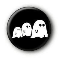Ghosts Gespenster Button Pin