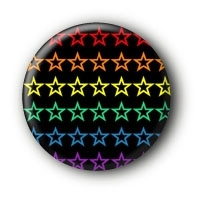 Sterne Rainbow Button #9 Pin