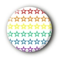 Sterne Rainbow Button #10 Pin