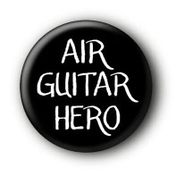 Air Guitar Hero Button Badge