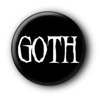 Goth Button Ansteckbutton Pin