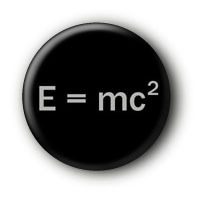 E = mc2 Button Ansteckbutton