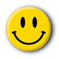 Smiley 90ies Badge | Buttons Ansteckbuttons bestellen