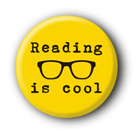 Reading is cool Button Anstecker