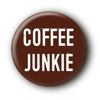 Coffee Junkie #2 Button Pin