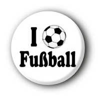 I love Fußball Button Ansteckbutton