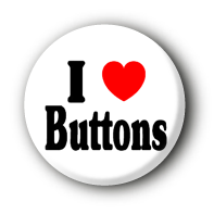 I love Buttons Pin Button Badge